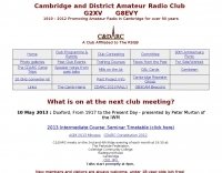 Cambridge and District Amateur Radio Club