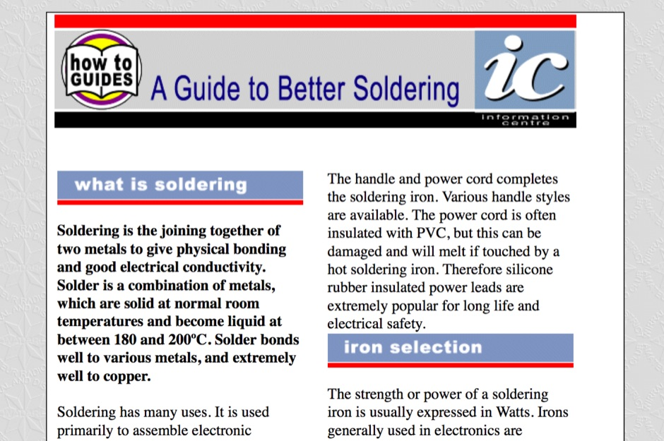 A Guide to Better Soldering