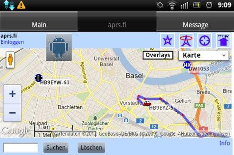 DXZone U2APRS Android APRS Tracker