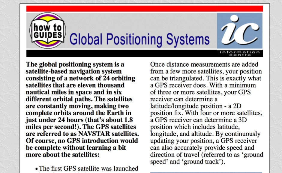 DXZone Global Positioning Systems