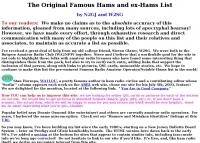 Famous hams and ex-hams