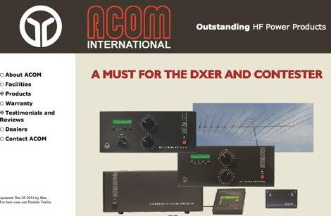 DXZone Acom 1000 specifications