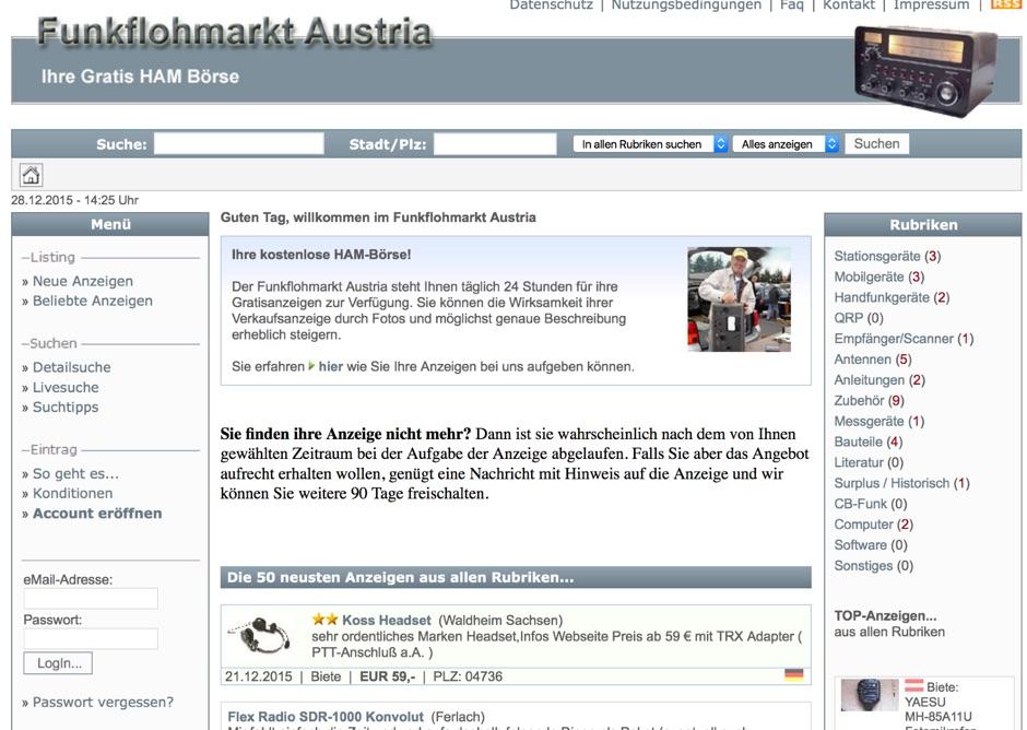 DXZone Funkflohmarkt Austria