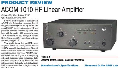 DXZone ACOM 1010 QST Review