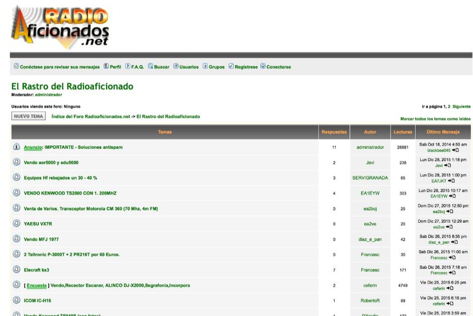 RadioAficionados.net annuncios