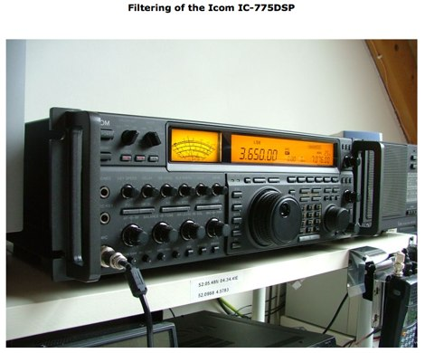 Filtering of the Icom IC-775 DSP