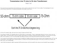 DXZone 75 ohm to 50 ohm Transformers