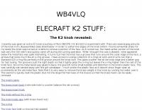 Elecraft K2 Parts data sheets