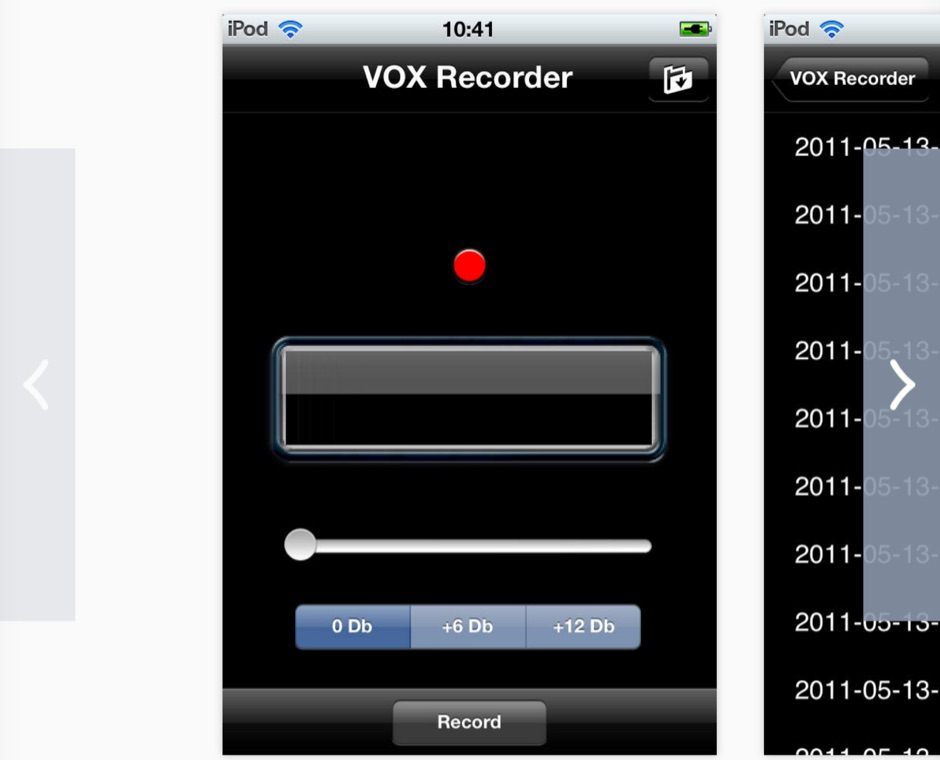 VoxRecorder for iPhone