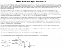 Fixed Audio Output for the K2