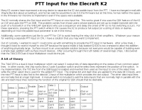 PTT INPUT for the Elecraft K2
