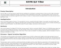 QLF Filter