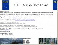 KLFF Alaskan Flora Fauna