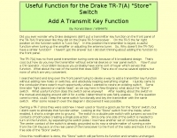 Transmit Key Function fir TR-7