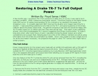Restoring A Drake TR-7 To Full Output Power