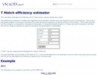 T Match efficiency estimator