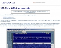 DXZone 137.7kHz QRSS on one chip