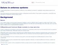 DXZone Baluns in antenna systems