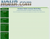Amateur Radio Licenses World Map