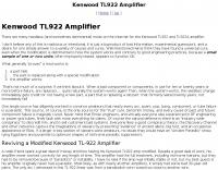 DXZone TL922 Mods by W8JI