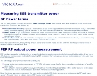 Measuring SSB transmitter power