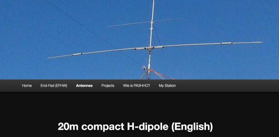 DXZone Compact 20m Dipole Antenna