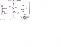 DXZone CAT Interface schematic for FT-857