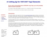 Cutting Jig for VHF/UHF yagi elements