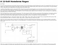 DXZone A 12-Volt Homebrew Regen
