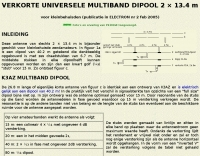 DXZone Shortened multiband dipole