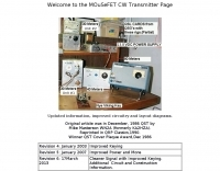 MOuSeFET CW Transmitter Page