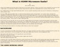 DXZone What is HSMM Microwave Radio?
