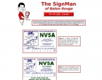 The SignMan QSL cards