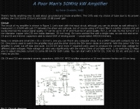 50MHz kW Amplifier