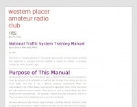 DXZone National Traffic System Training Manual