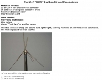 A cheap dual band ground plane antenna