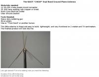 DXZone A cheap dual band ground plane antenna