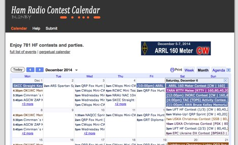 DL2NBY Contest Calendar
