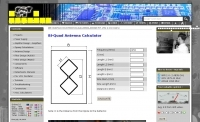 DXZone BiQuad Antenna calculator