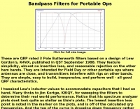 Bandpass Filters for Portable Usage