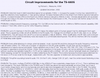 DXZone Circuit Improvements for the TS-440S