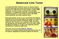 DXZone Balanced Line Tuner