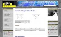 DXZone Constant k Lowpass Filter Design