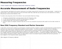 Radio Frequencies Measurement