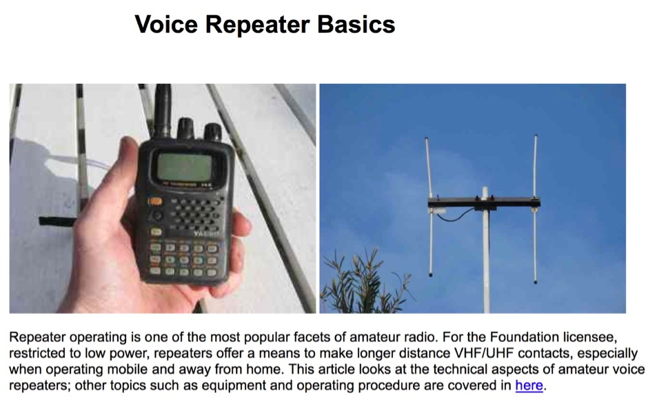 Voice Repeater Basics