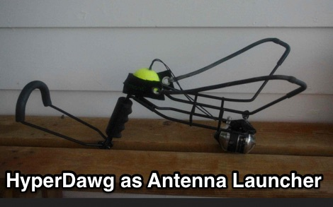 Re-purposed HyperDawg as Antenna Launcher