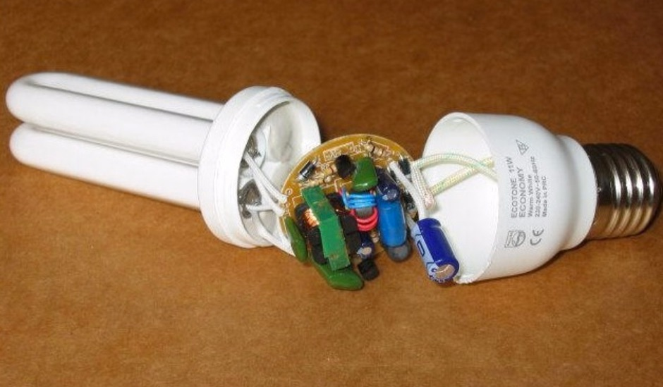 Inside Compact Fluorescent Lights