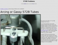 Arcing or Gassy 572B Tube
