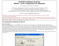 DXZone DL4YHF WinPic Programmer