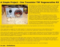 A simple regenerative receiver - Resource Detail - The